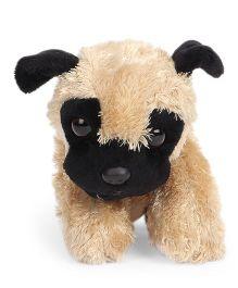 Wild Republic Hug Ems Pug Soft Toy Beige Black - Length 16 cm