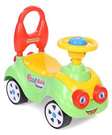 Kids Zone Manual Push Ride On - Green Yellow Red