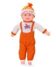 Kids Zone Laughing Doll Star Fish Print Orange White - 47 cm