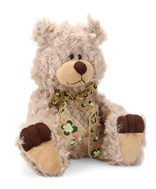Play N Pets Teddy Bear With Ribbon Bow Cream - 29 cm