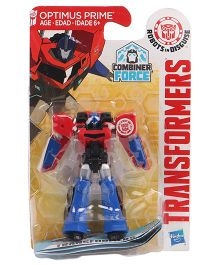 Transformers RID 5 Step Changer Optimus Prime Figure Red & Blue - Height 6.5 cm