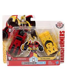 Transformers RID Combiner Force Sideswipe & Bumblebee - Yellow Red