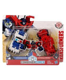 Transformers RID Combinerforce Strongarm & Optimus Prime Figure - Blue Red