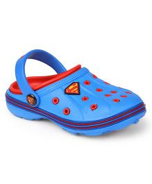 Superman Clogs With Back Strap - Blue & Red