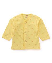 Zero Full Sleeves Vest Allover Print - Yellow