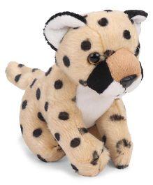 Wild Republic Cuddlekins Lil's Cheetah Beige Black - Height 11 cm