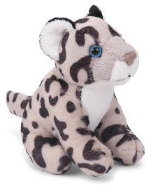 Wild Republic Cuddlekin Baby Snow Leopard Soft Toy Grey - Length 11 cm