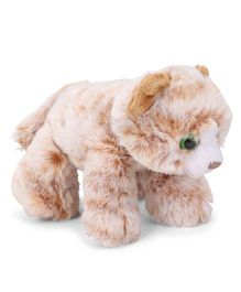 Wild Republic Hug Ems Tabby Cat Soft Toy Light Orange - Length 16 cm