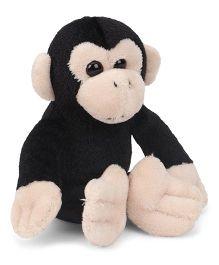 Wild Republic Cuddlekin Lil's Chimpanzee Soft Toy Black - Height 10 cm