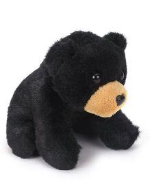 Wild Republic Cuddlekin Lil Bear Soft Toy Black - Height 10 cm