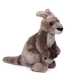 Wild Republic Cuddlekin Kangaroo Soft Toy Grey - Height 30 cm