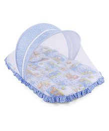 Mee Mee Mattress With Pillow And Mosquito Net - Blue