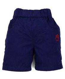 Jash Kids Plain Shorts - Navy Blue