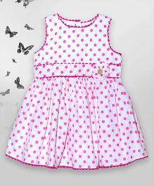 Bella Moda Polka Printed Dress - Pink