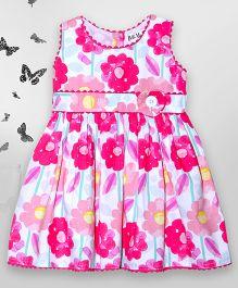 Bella Moda Floral Printed Dress - Pink
