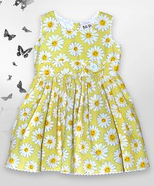 Bella Moda Floral Print Dress - Yellow