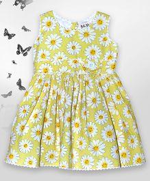 Bella Moda Floral Print Dress - Yellow