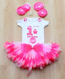 Tu Ti Tu Butterfly First Birthday Tutu Set - Pink