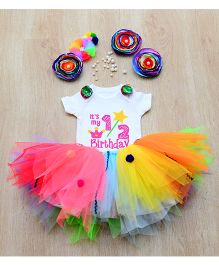 Tu Ti Tu Candyland First Birthday Tutu Set - Multicolor