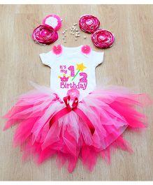 Tu Ti Tu Cupcake Onesie & Tutu Set - Pink