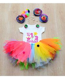 Tu Ti Tu Candyland Onesie & Tutu Set - Multicolor