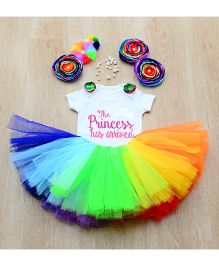 Tu Ti Tu Rainbow Princess Onesie & Tutu Set - Multicolor