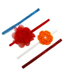 D'chica What Every Little Girl Needs Set 4 Headband For Girls - Multicolour