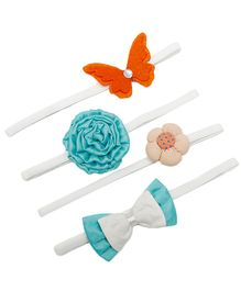 D'chica Set Of 4 Colorful Headbands For Baby Girl - Multicolour
