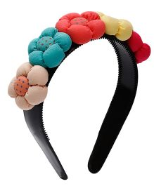 D'chica Little Miss Cute Flowers On Hairband For Girls - Multicolour