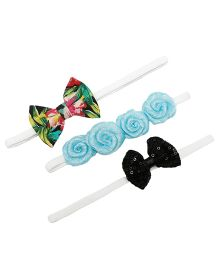 D'chica Set Of 3 Chic Hair Accessories For Girls - Multicolour