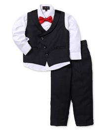 Robo Fry 3 Piece Party Suit With Bow - Black