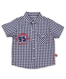 Bodycare Half Sleeves Checks Shirt - Navy Blue