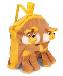 Funzoo Soft Toy Bag Twin Bunny Shape - Yellow Brown