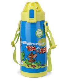 Tom & Jerry Double Walled Insulated Water Bottle Medium Blue - 400 ml