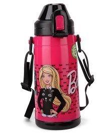 Barbie Double Walled Water Bottle Dark Pink - 400 ml