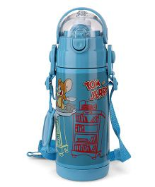 Tom & Jerry Thermo Canteen Sipper Water Bottle Medium Blue - 350 ml