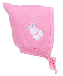 Child World Cap With Tie Knot Teddy Patch Large - Pink
