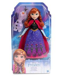 Disney Frozen Northern Lights Fashion Doll Anna Purple & Blue - 27 cm