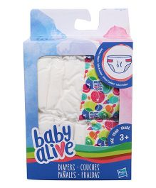Baby Alive Doll Diapers Refill - Pack Of 6