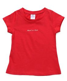 Smarty Half Sleeves Tee Quote Embossed - Red