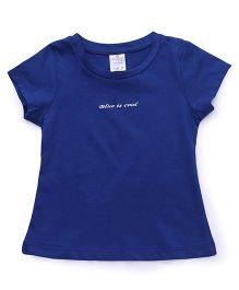 Smarty Half Sleeves Tee Cool Print - Blue