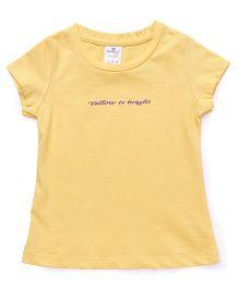 Smarty Half Sleeves Tee Quote Embossed - Yellow