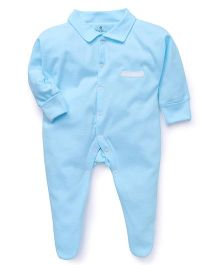 Child World Full Sleeves Sleep Suit - Turquoise