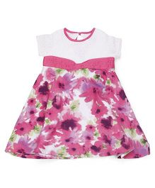 Young Birds Blossom Print Dress - Pink