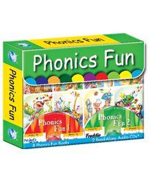 Phonics Fun Pack of 8 Books 2CDs - English