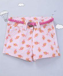 Hugsntugs Fish Print Shorts - Pink