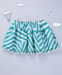Hugsntugs Stripe Skirt - Green & White