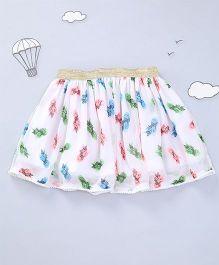 Hugsntugs Pineapple Print Skirt - White