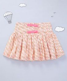 Hugsntugs Printed Skirt - Peach
