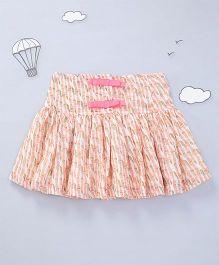 Hugsntugs Printed Skirt - Peach